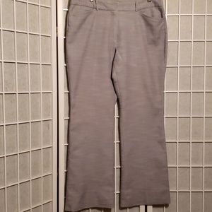 WORTHINGTON MODERN FIT GREY COTTON BL. PANTS SZ 12